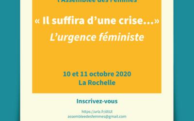 Il suffira d'une crise… «L'urgence féministe»